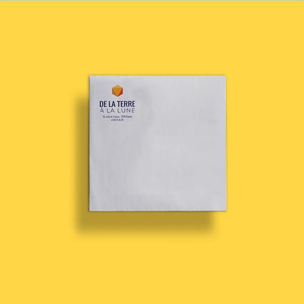 enveloppes carrées 150x150 mm blanches personnalisables livraison rapide