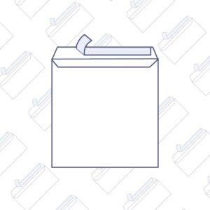 Enveloppes carrées bande auto-adhésive